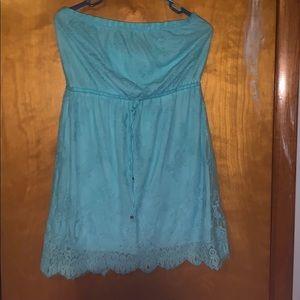 Blue Aeropostale lace dress